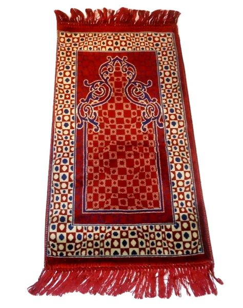 Childrens Red Islamic Muslim Prayer Mat