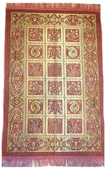 Gift Boxed Luxury Pink/Gold Turkish Islamic Prayer Mat