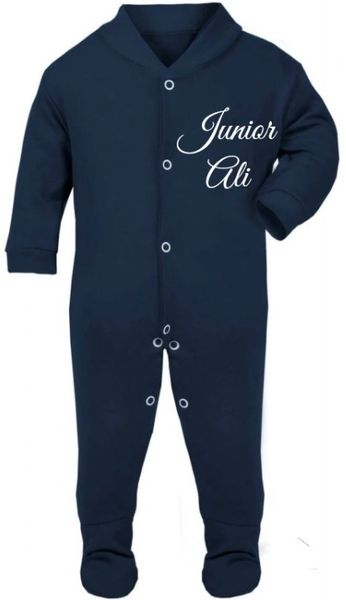 Personalised Baby English Babygrow Bodysuit Sleepsuit Romper