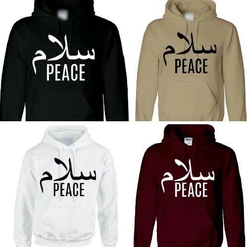 Salaam Peace Arabic Hoodie Jumper Chest