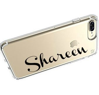 Swirly Name Phone Clear Silcone Case Cover