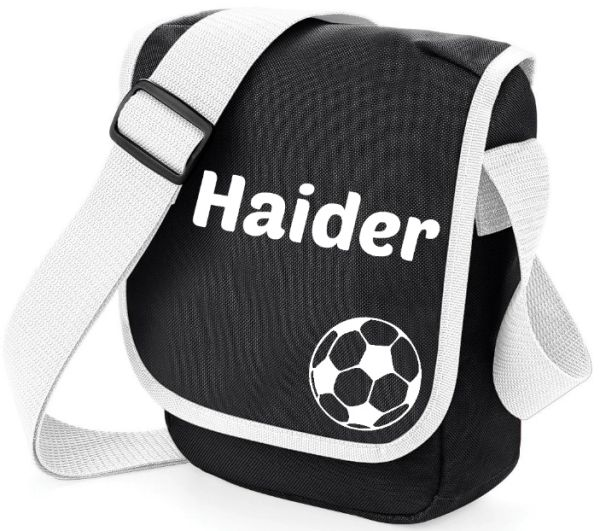 Boys Personalised Football Name Bag