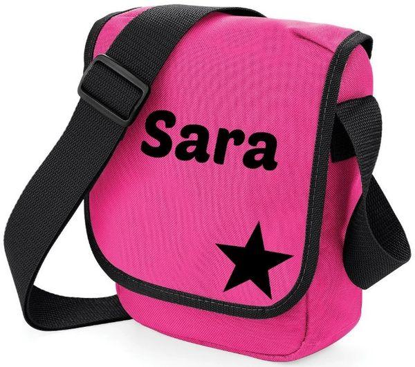 Girls Personalised Star Name Bag