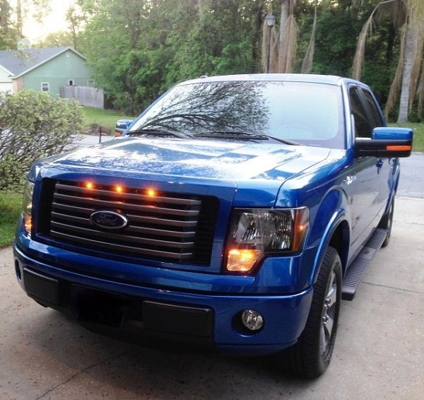 2012 F150 Grill >> 2009 2012 Ford F 150 Raptor Style Grill Clear Light Kit
