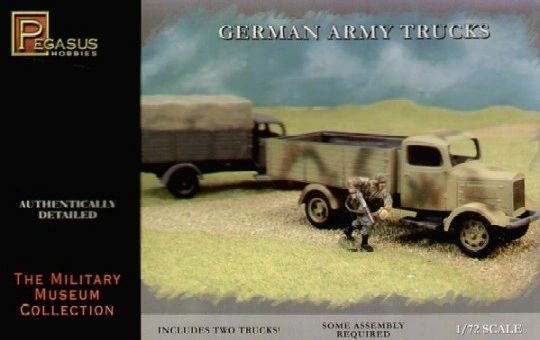 German Army Truck 2 Snap Pegasus 1 72 7610 Plastic