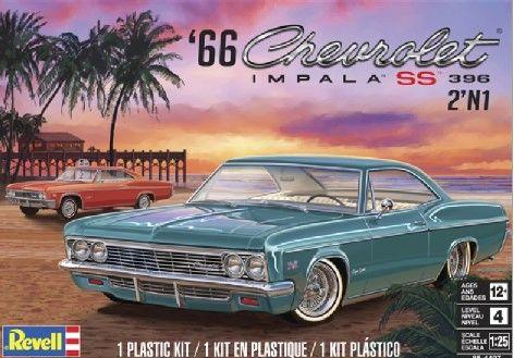 1966 Chevrolet Impala Ss 396 2 In 1 Revell 1 25 Rmx