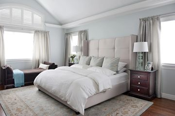 white bed with white background room