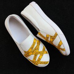 Savage white shoes