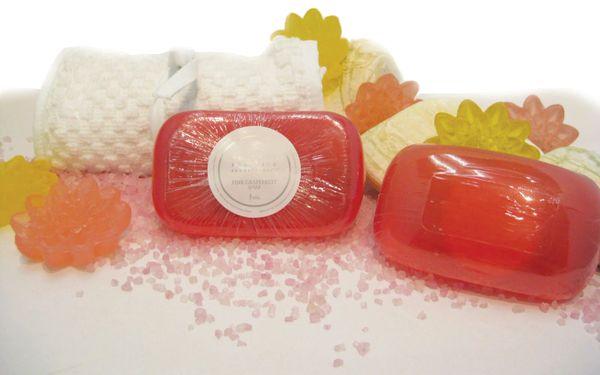 Pink Grapefruit Soap Set of 3