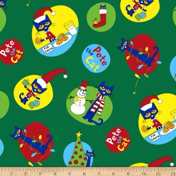 Pete The Cat Christmas R11 9874 0114 The Little Red Hen Quilt Shop