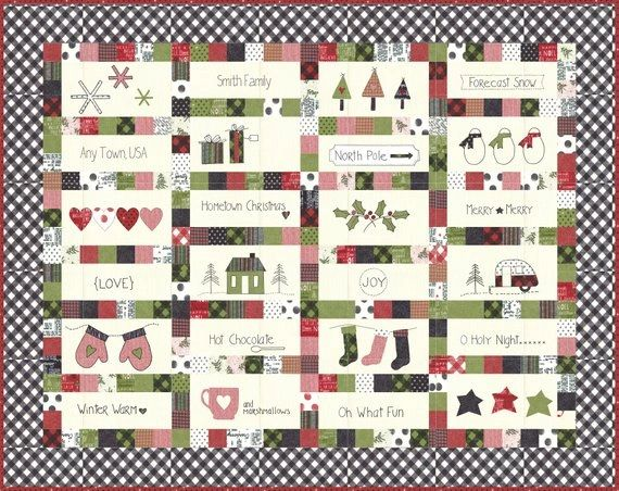 Christmas Quilt.Hometown Christmas Quilt Pattern