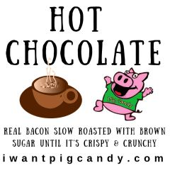 3 oz Pouch of Hot Chocolate Pig Candy