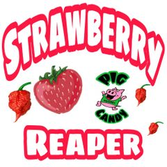 3 oz Pouch of Strawberry Reaper Pig Candy