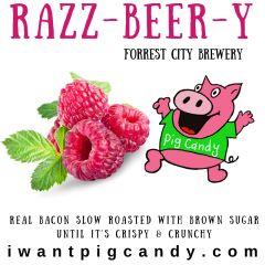 3 oz Pouch of Razz-Beer-Y Pig Candy