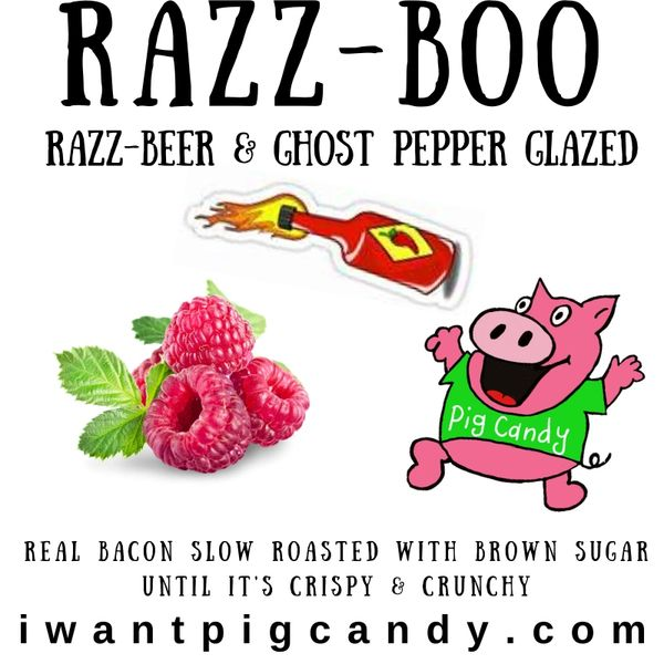 3 oz Pouch of Razz-Boo Pig Candy