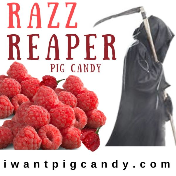 3 oz Pouch of Razz Reaper Pig Candy