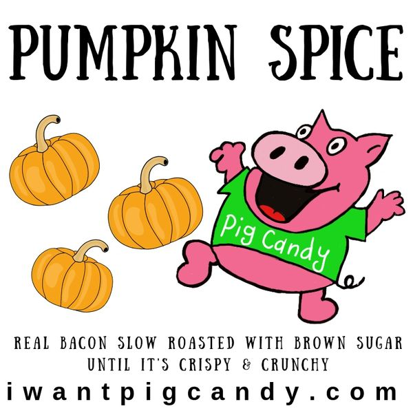 3 oz Pouch of Pumpkin Spice Pig Candy