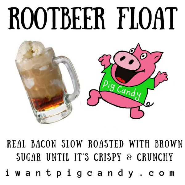 3 oz Pouch of Root Beer Float Pig Candy