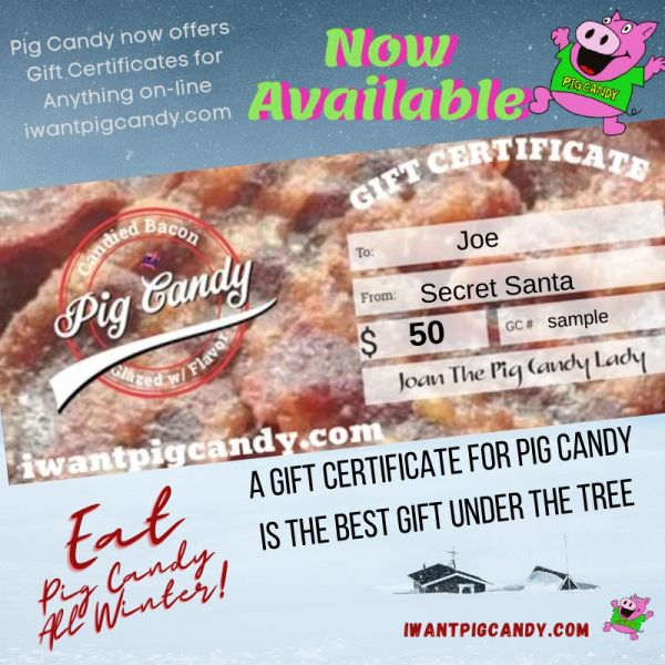 Gift Certificate for Pig Candy - $50