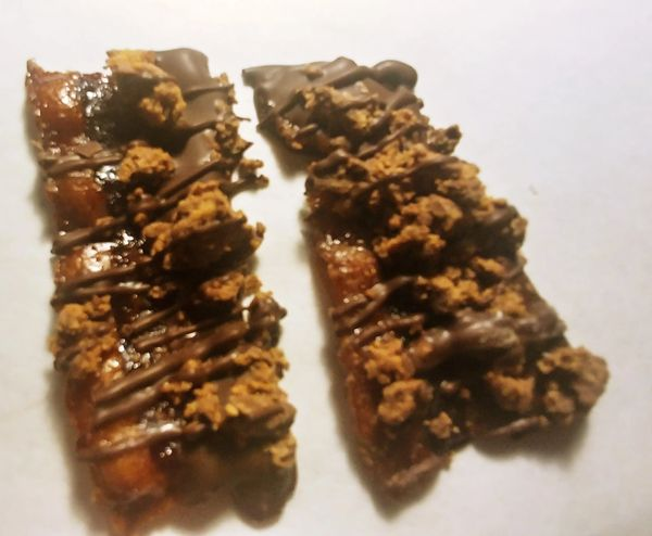 5 oz PB Crumble Chocolate Dipped Pig Candy