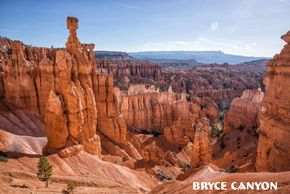 View of trail and Hoodoos in Bryce Canyon National Park