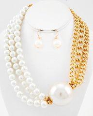 Cream & Chain Pearl