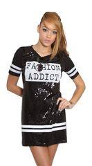 Fashion Addict Sequin Shirt Dress