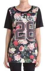 Floral Print Bonjour Scuba Style Top