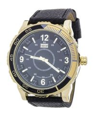 Men's Black and Gold Oversize Sports Watch