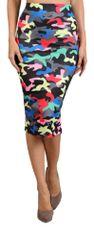 High Waisted Camouflage Print Pencil Skirt