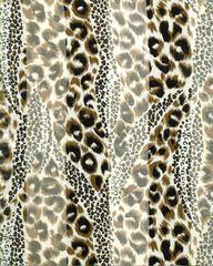Brown Leopard Print Satin Stripe Scarf