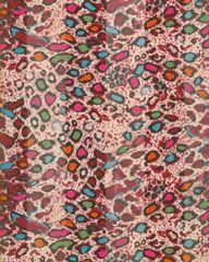 Multicolored Leopard Print Satin Scarf