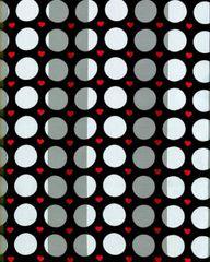 Polka Dot and Heart Satin Stripe Scarf