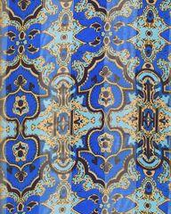 Royal Blue and Aqua Printed Scarf