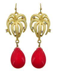 Semi Precious Stone Dangle Earring Set
