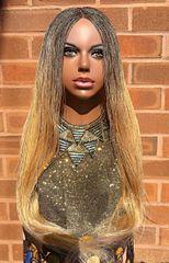 Hand braided Micro Twist Wig, Blonde 30 inches
