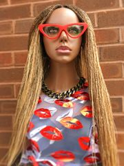 Handmade Micro Twist Braided Wig Color 30 & Blonde Mix, 32 Inches