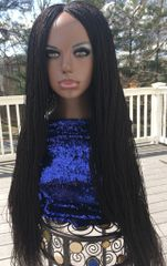Handmade Micro Twist Braided Wig Color 2, 30 Inches