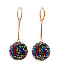 Multi Color Disco Ball Dangle Earring Set