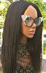 Handmade Micro Twist Braided Wig Color 2, 24 Inches