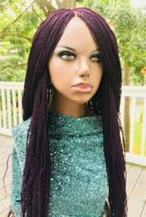Micro Twist Wig with Net Closure, Color Violet 30 Inches