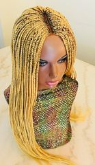 Cornrow Box Braided Wig Color Honey Blonde, 30 Inches