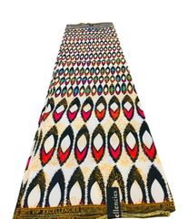 Ankara Print Fabric 6 Yards, Beige Multi Color