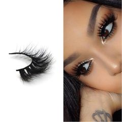 3D Mink False Eyelashes Dramatic Look 100% Handmade & Cruelty Free Reusable Style D01