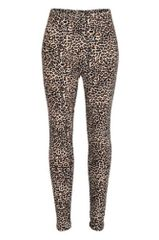 Leopard Print Peach Skin Leggings