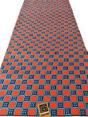 African Ankara Print Fabric 6 Yards Abstract Print