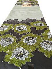 African Ankara Print Fabric 6 Yards Light Green Floral Print