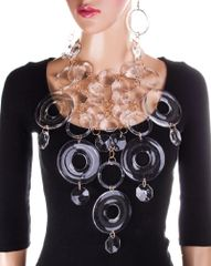 Clear Acrylic Statement Necklace Set