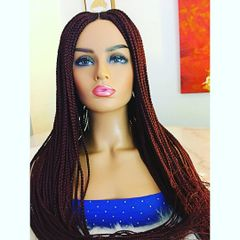 Cornrow Box Braided Wig Color 33/35 Mix, 33 Inches