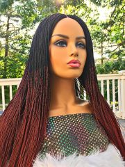Micro Twist Ombre Braided Wig Color 1b/35, 26 inches